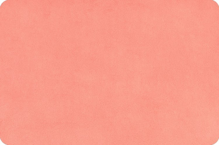Cuddle Fabric - Solid Coral 58 Wide