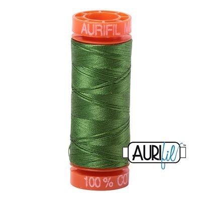 Aurifil Mako 50wt Solid 219yds - DARK GRASS GREEN 5018