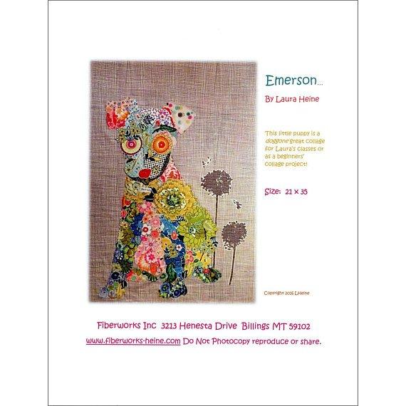 Emerson Puppy Collage Pattern