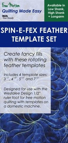 Sew Steady Spin-E-Fex Feather Template