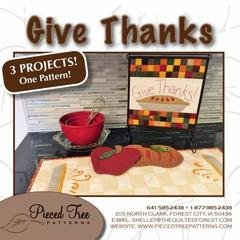 Give Thanks 3 project patterns
