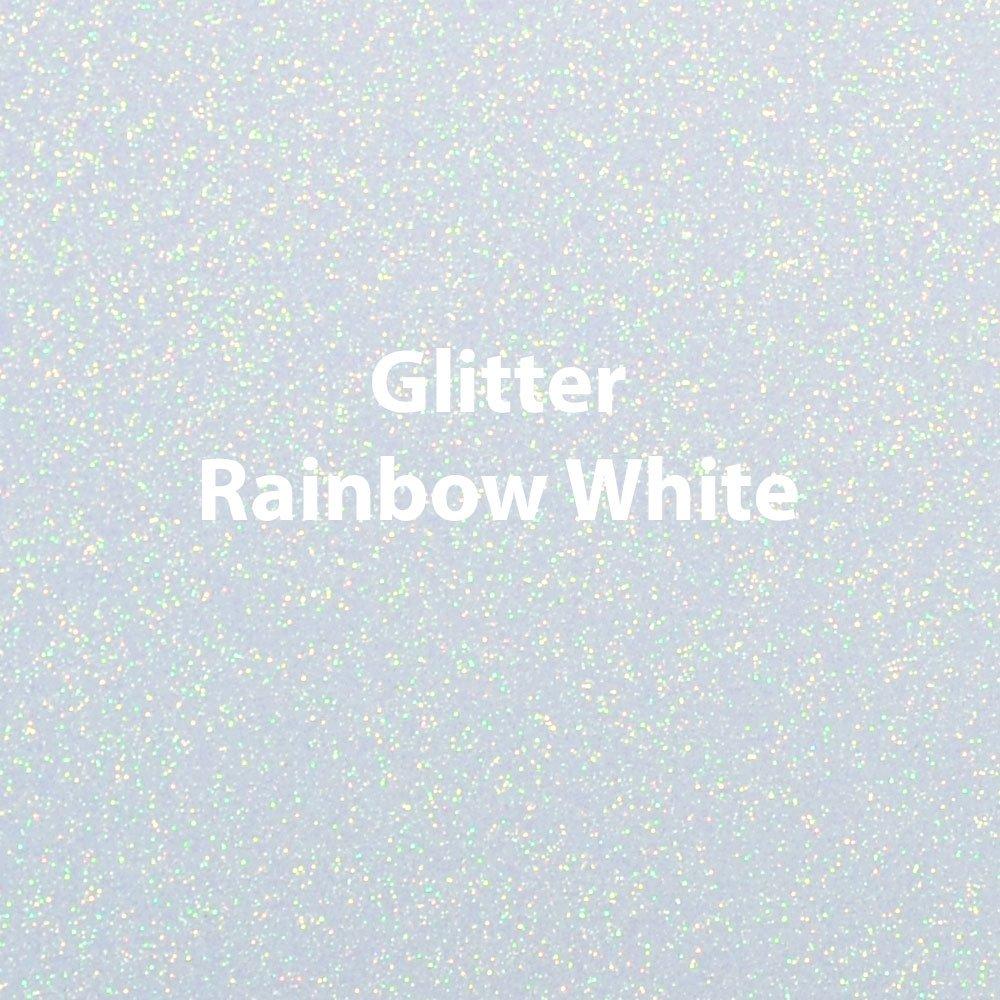 Siser Glitter Rainbow White Heat Transfer Vinyl