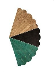 Eversewn Cork 12x18 - 3 sheets/pkg - Emerald Espresso Natural with Gold