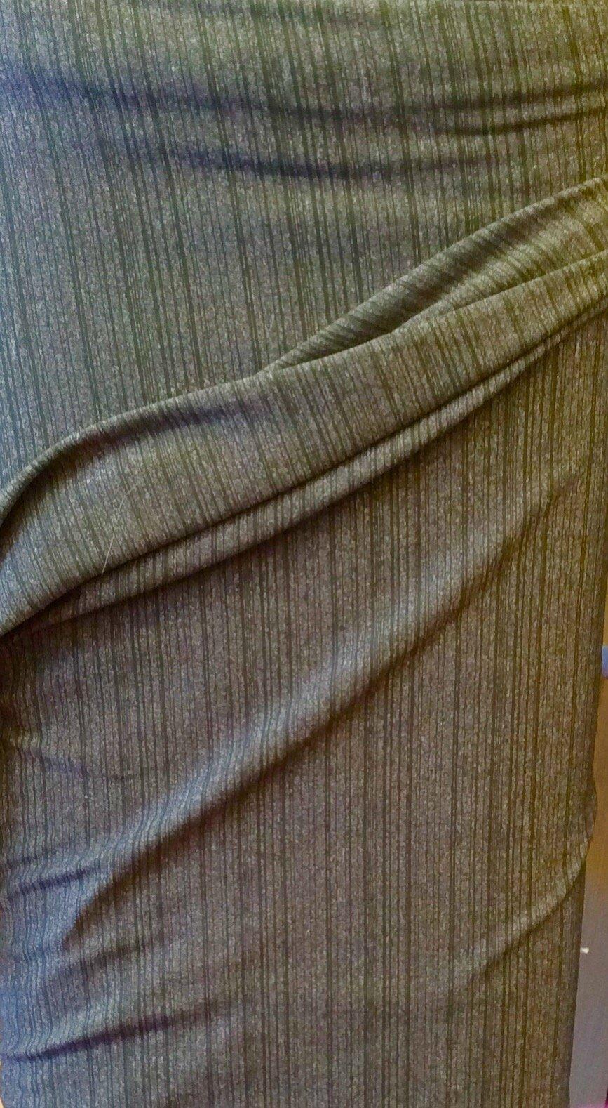 Lycra Dark Green Stripes