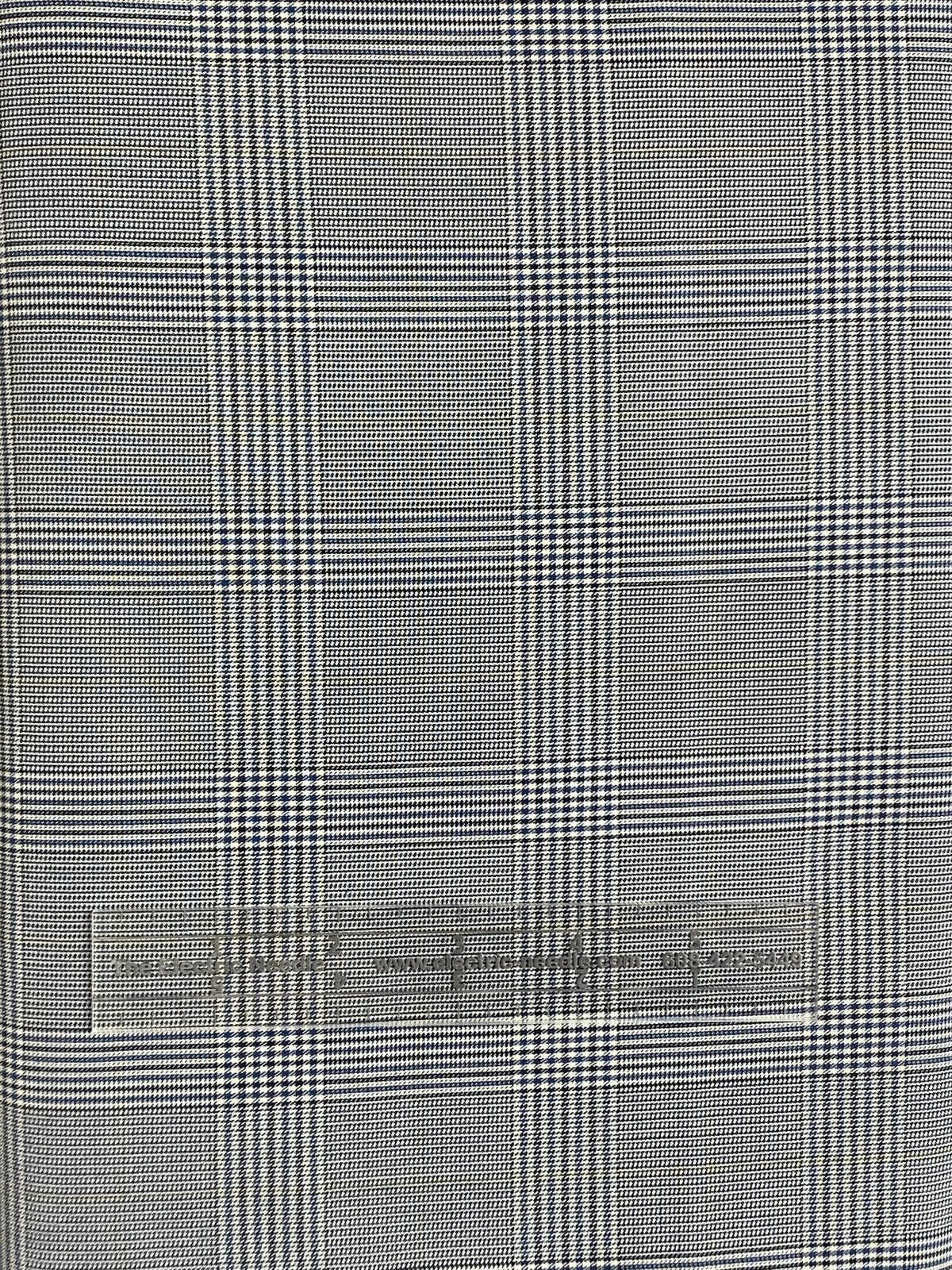 Diamond Fabrics Grey Check