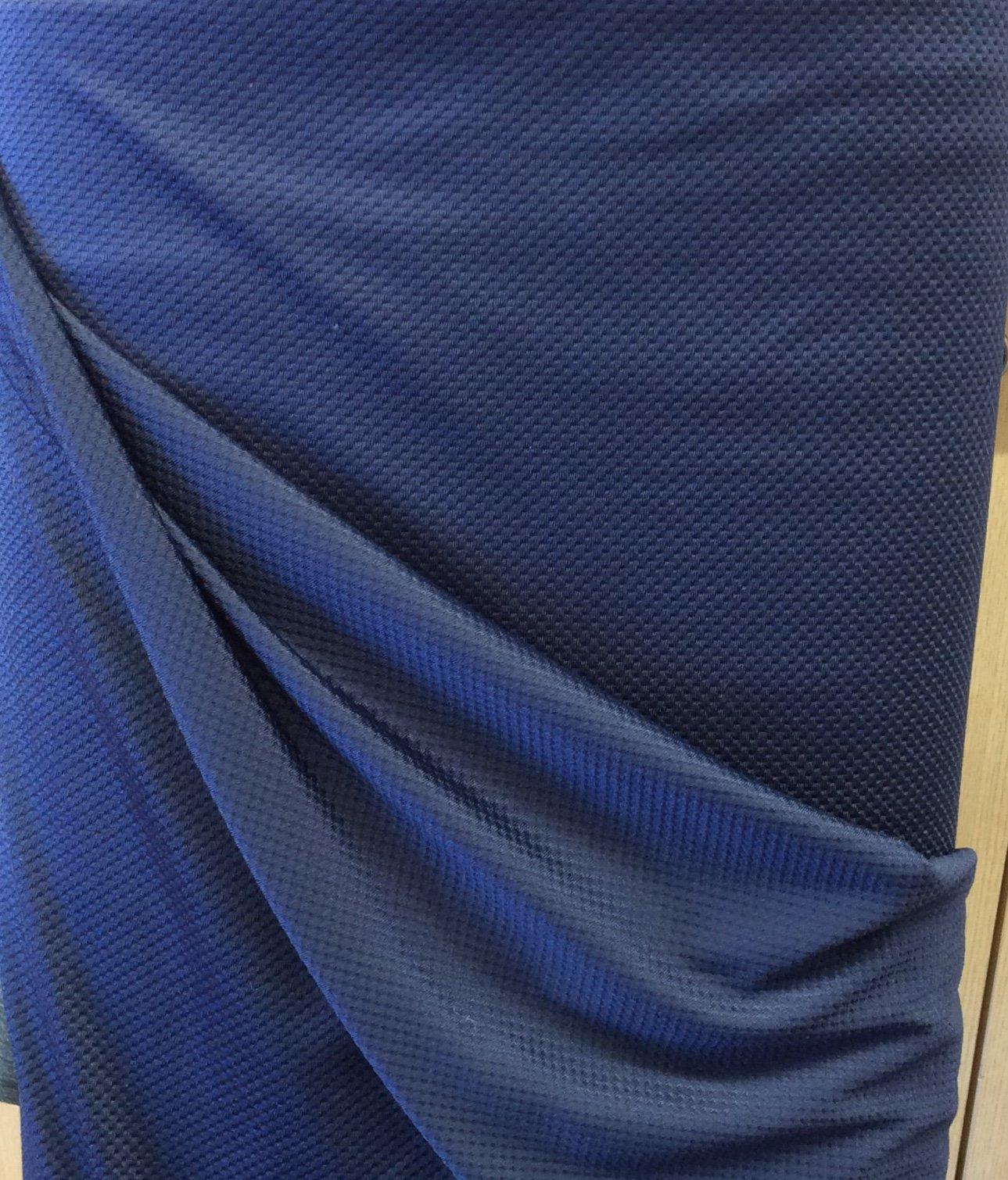 Lycra Textured Navy Blue