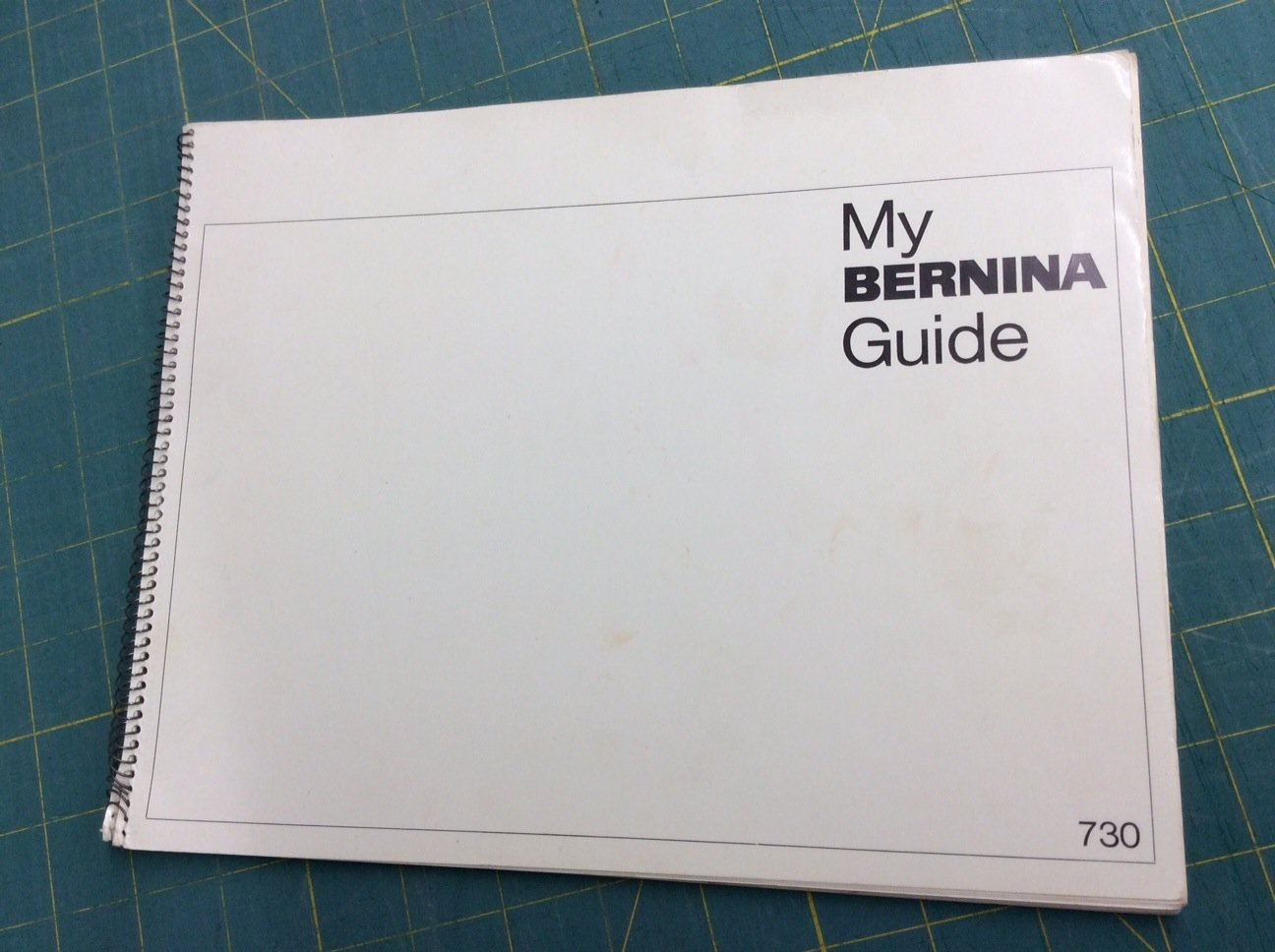Bernina 730 Owners Manual - Used