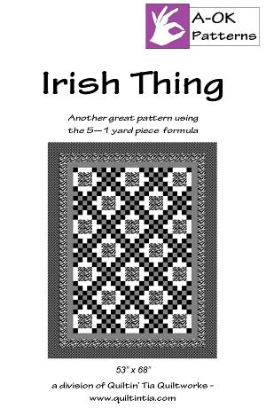 5 Yard Quilt Pattern - Irish Thing