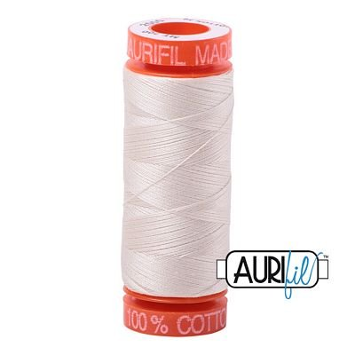 Aurifil Mako 50wt Solid 219yds - LIGHT SAND 2000