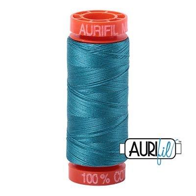 Aurifil Mako 50wt Solid 219yds - MEDIUM TURQUOISE 4182