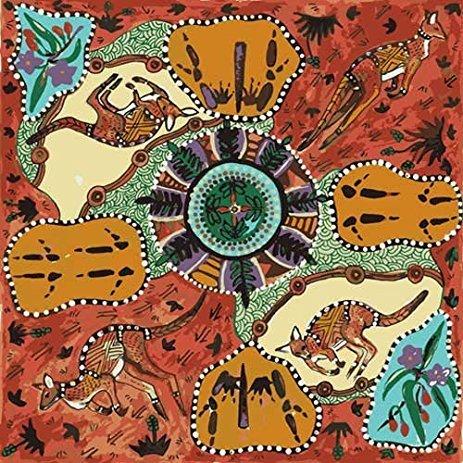 Aboriginal Mirram Mirram Aka Red Fabric
