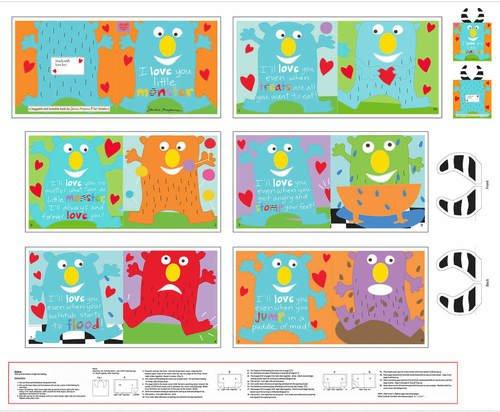 36 Little Monster Book Panel