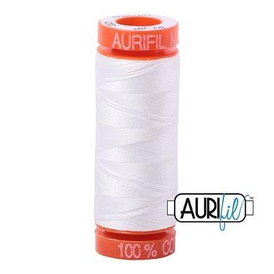 Aurifil Mako 50wt Solid 219yds - NATURAL WHITE 2021