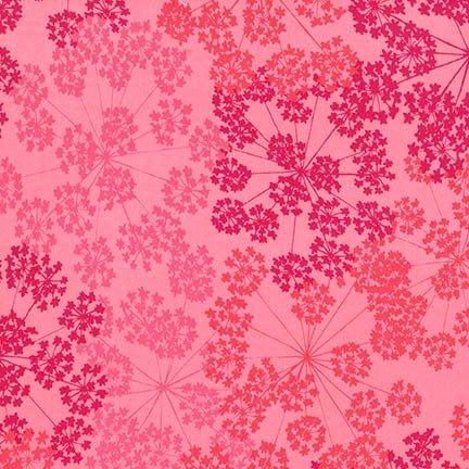 108 wide backing fabric Robert Kaufman Blueprint Basics -Pomegranate