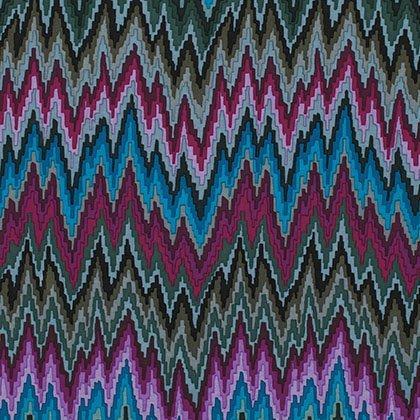 Kaffe Fassett - Flame Stripe Dark Fabric