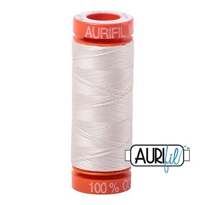 Aurifil Mako 50wt Solid 219yds - SILVER WHITE 2309