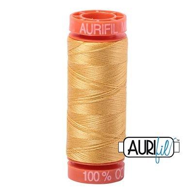 Aurifil Mako 50wt Solid 219yds - SPUN GOLD 2134