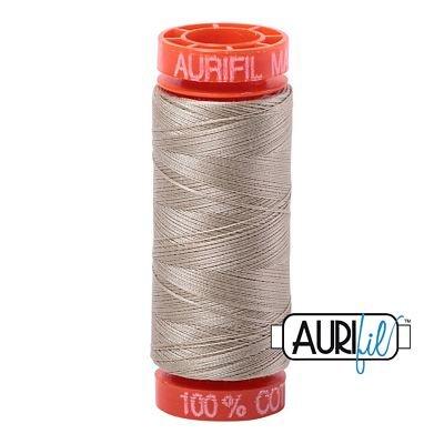 Aurifil Mako 50wt Solid 219yds - STONE 2324