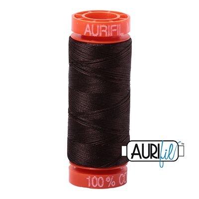 Aurifil Mako 50wt Solid 219yds - VERY DARK BARK 1130