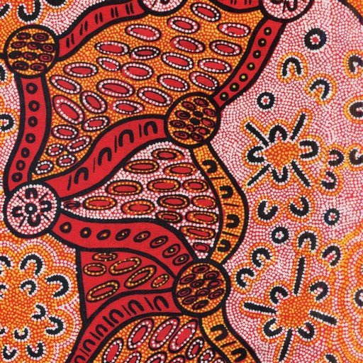 Aboriginal Woman Dreaming fabric