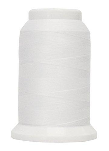 Polyarn flocked polyester Serger Thread White