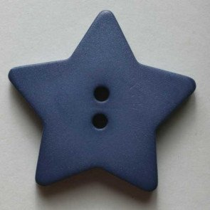 *TRADITIONAL STAR//ROYAL BLUE//1 1/8 - 28MM//WASHABLE-DRY CLEANABLE//DILL BUTTONS