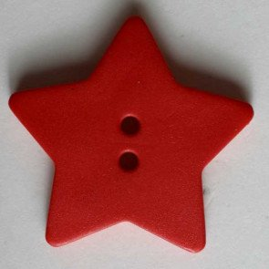 *TRADITIONAL STAR//RED//1 1/8 - 28MM//WASHABLE-DRY CLEANABLE//DILL BUTTONS