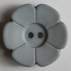 *DAISY FLOWER TWO-HOLE BUTTON//GREY//1 1/8 - 28MM//WASHABLE - DRY CLEANABLE//DILL BUTTONS