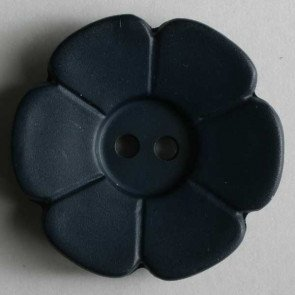 *DAISY FLOWER TWO-HOLE BUTTON//INK BLUE//1 1/8 - 28MM//WASHABLE - DRY CLEANABLE//DILL BUTTONS