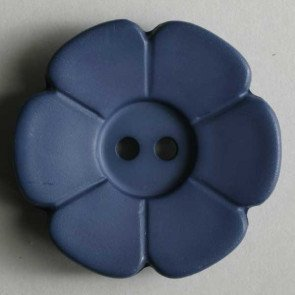 *DAISY FLOWER TWO-HOLE BUTTON//BLUE TEAL//1 1/8 - 28MM//WASHABLE - DRY CLEANABLE//DILL BUTTONS