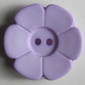 *DAISY FLOWER TWO-HOLE BUTTON//LIGHT LILAC//1 1/8 - 28MM//WASHABLE - DRY CLEANABLE//DILL BUTTONS