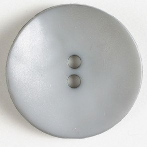 *POLYAMIDE WAVY ROUND TWO-HOLE BUTTON//GREY//1 1/8 - 28MM//WASHABLE - DRY CLEANABLE//DILL BUTTONS