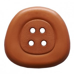 *POLYAMIDE TRAPEZOID FOUR-HOLE BUTTON//BROWN//1 - 25MM//WASHABLE - DRY CLEANABLE//DILL BUTTONS