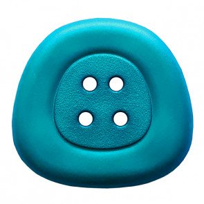 *POLYAMIDE TRAPEZOID FOUR-HOLE BUTTON//TEAL BLUE//1 - 25MM//WASHABLE - DRY CLEANABLE//DILL BUTTONS