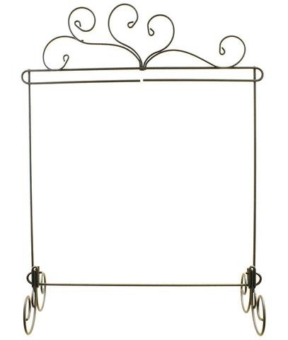 *SPIRIT VINE SINGLE ITEM WIRE TABLE STAND//SIZE 14x 14//GRAY COLOR//ACKFELD MANUFACTURING CO.