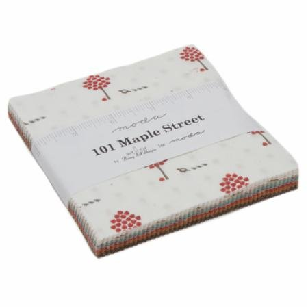 *101 MAPLE STREET//CHARM PACK 5 SQUARE//42 SQUARES//BUNNY HILL DESIGNS//MODA