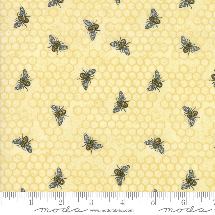 *BEE JOYFUL//BUSY BEE//PARCHMENT//DEB STRAIN//MODA FABRICS