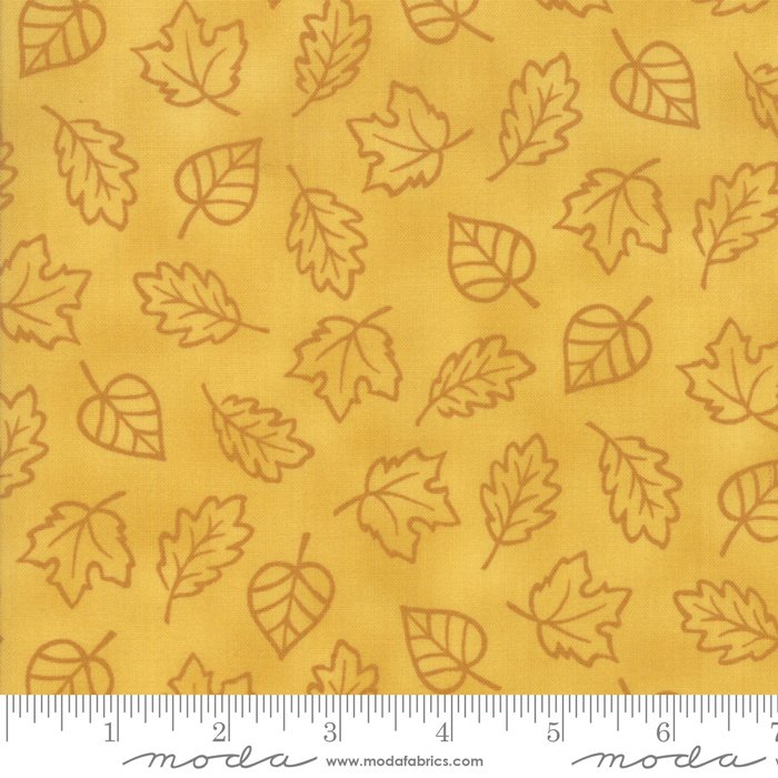 *THANKFUL//AUTUMN MONOTONE LEAVES//HARVEST GOLD//DEB STRAIN//MODA FABRICS