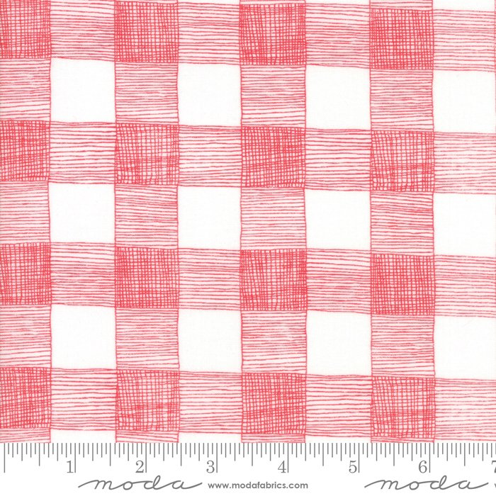 *FARM FRESH//RUSTIC GINGHAM//CLOUD-ROOSTER RED//GINGIBER//MODA