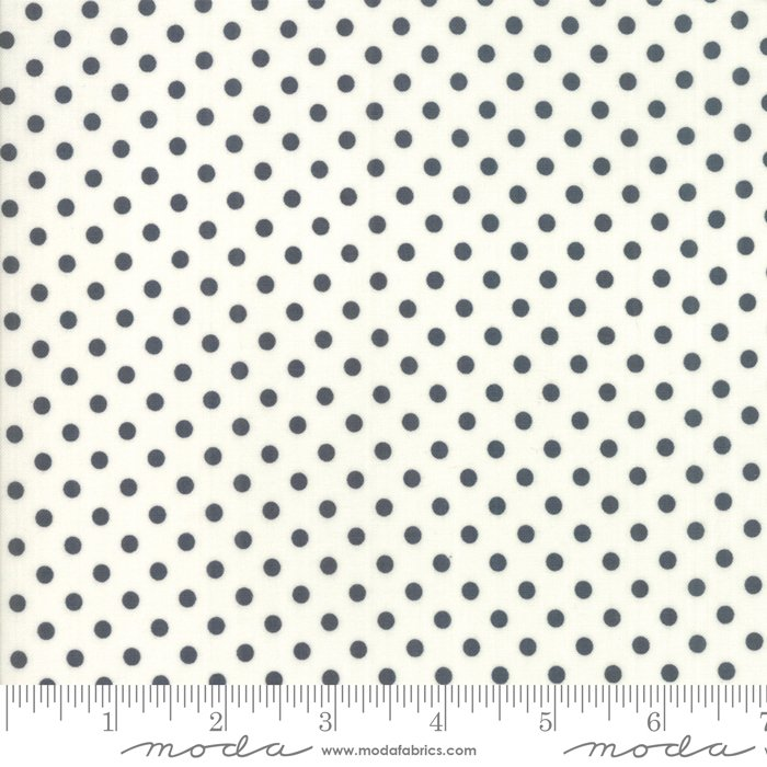 *LITTLE SNIPPETS//DOTS//CHARCOAL-CREAM//BONNIE & CAMILLE//THIMBLE BLOSSOMS//MODA