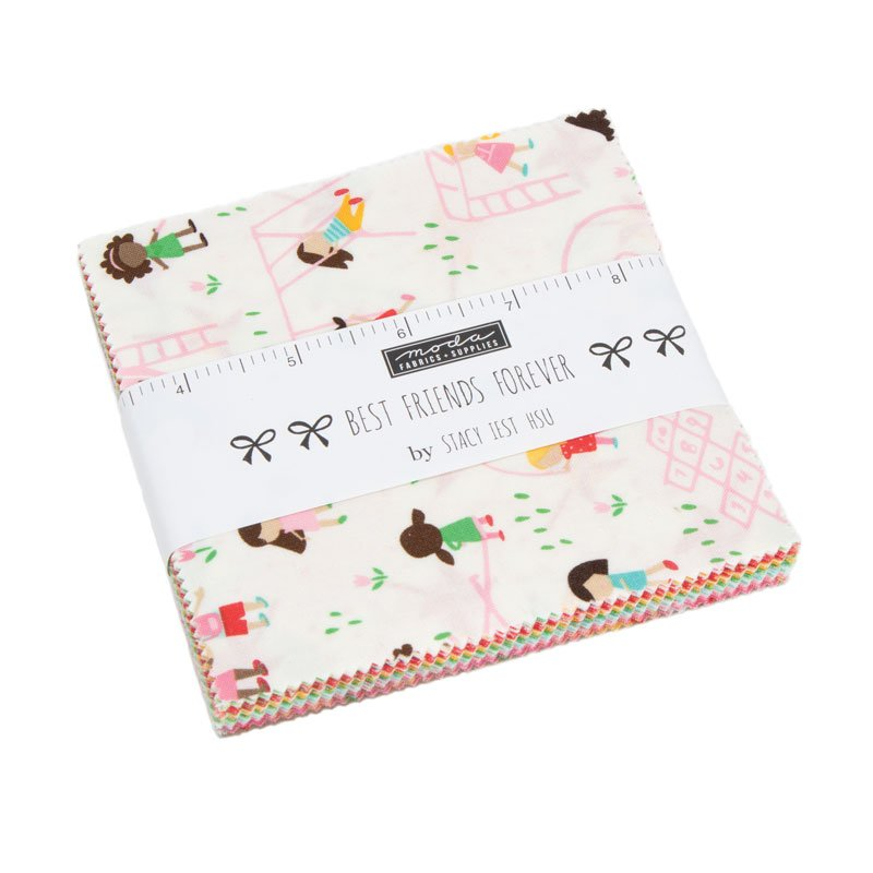 *BEST FRIENDS FOREVER//CHARM PACK 5 SQUARES//QTY 42//STACY IEST HSU//MODA