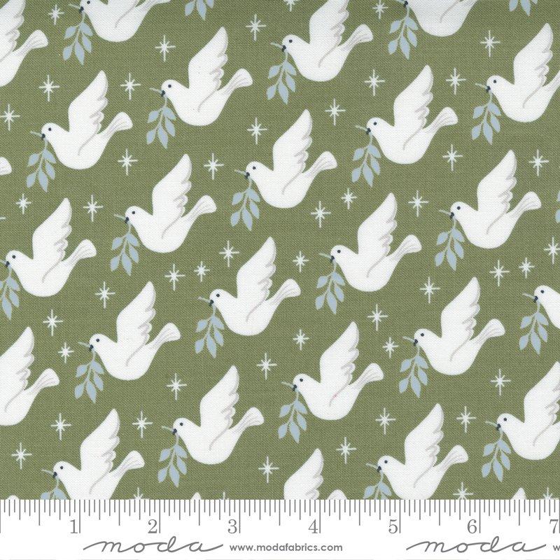 *CHRISTMAS MORNING//LOVEY DOVEY BIRD DOVE PEACE//PINE//LELLA BOUTIQUE//MODA