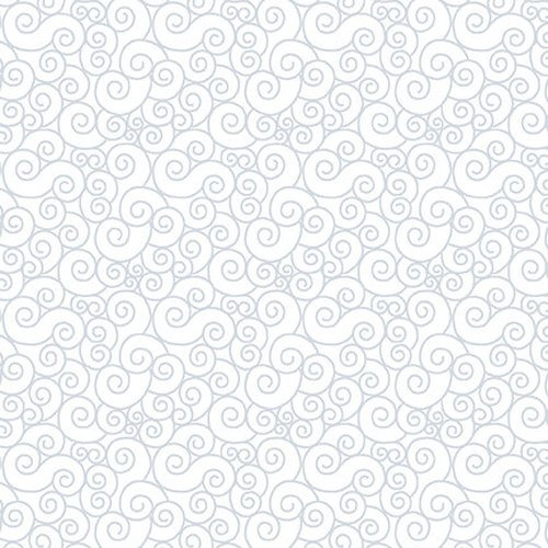*QUILTERS FLOUR//TOUCHING SCROLLS//WHITE ON WHITE//HENRY GLASS & CO.