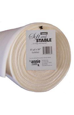 *ANNIE'S SOFT & STABLE//58 WIDE//WHITE//FOAM STABILIZER//BY ANNIE'S