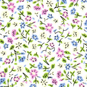 *MINI FLORAL//BLUE,PINK,YELLOW,GREEN//100% COTTON//60//FABRIC FINDERS