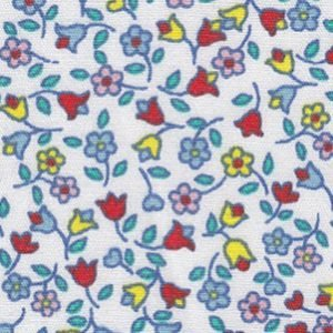 *MINI FLORAL//TURQ,PINK,RED,YELLOW//100% COTTON//60//FABRIC FINDERS