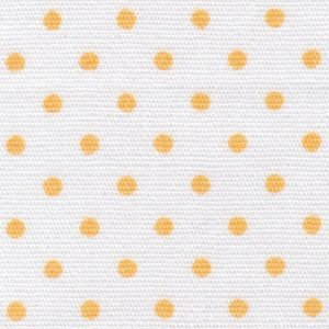 *POLKA DOT//WHITE WITH 1/8 GOLD DOTS//100% COTTON//60 WIDE//FABRIC FINDERS