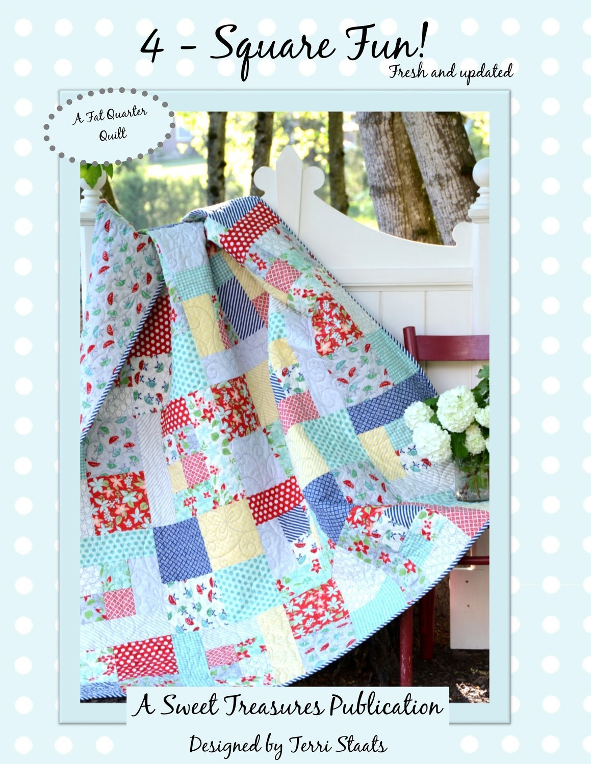 *4-SQUARE FUN!! QUILT KIT//INCLUDES 4-SQUARE PATTERN & 20 FAT QUARTERS-ENOUGH FOR SIZE 60x84//BERNINA IN STITCHES