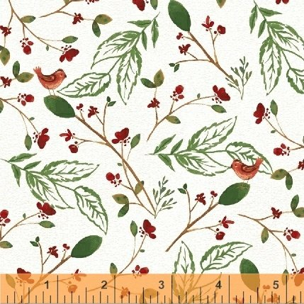 *A WALK IN THE WOODS//VINES-BIRD//WHITE//WHISTLER STUDIOS//WINDHAM FABRICS