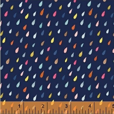 *PAINT THE TOWN//RAINDROPS//NAVY//STRIPED PEAR STUDIO//WINDHAM FABRICS
